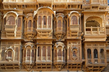 JAISALMER, INDIA, November 2, 2017 : Haveli in Jaisalmer. Haveli is a traditional townhouse in India, usually with historical and architectural significance. Editorial