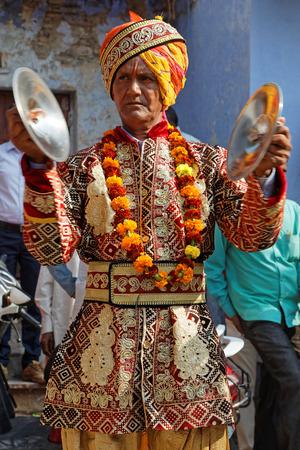 LAKHERI, INDIA, November 7, 2017 : Musicians during Lakheri festival, a part of Bundi Utsav, a remarkable cluster of traditional art, rajasthani culture and craftsmanship. Editorial