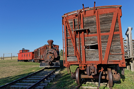 Old train in a western ghost town of South Dakota Reklamní fotografie