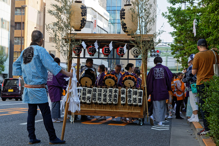 TOKYO, JAPAN, May 11, 2019 : Kanda Matsuri (or Kanda Festival) is one of the great Shinto festivals of Tokyo and is held in May, in odd-numbered years.
