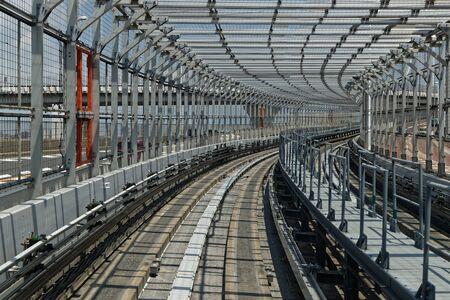Monorail railways on Rainbow Bridge, Odaiba, Tokyo
