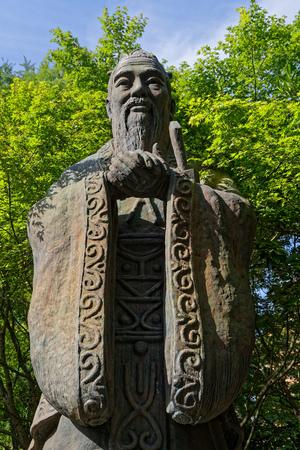 Confucius statue in Yushima Seido shrine, in Tokyo