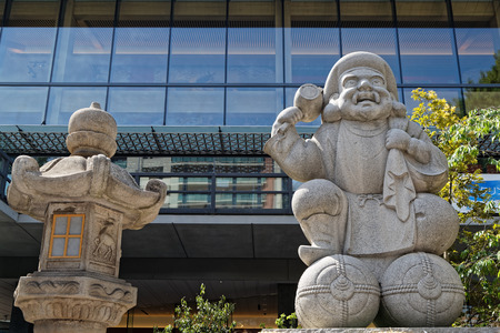 Kanda Myojin temple architectural detail, Akihabara district, Tokyo Editorial