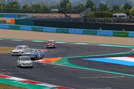 MAGNY-COURS, FRANCE, June 30, 2019 : Old timers race. French Historic Grand Prix takes place on Magny-Cours race track every two years.