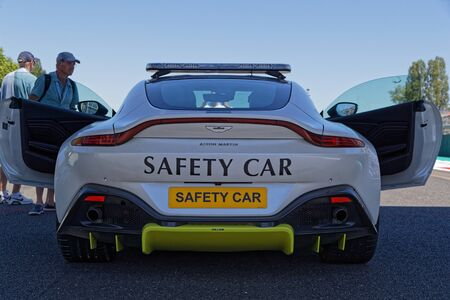 MAGNY-COURS, FRANCE, June 29, 2019 : Safety car on the grid. French Historic Grand Prix takes place on Magny-Cours race track every two years. Sajtókép