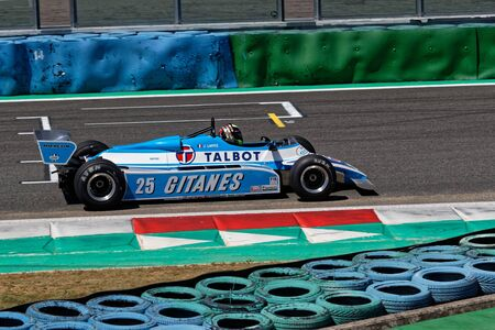 MAGNY-COURS, FRANCE, June 29, 2019 : Ligier on track. French Historic Grand Prix takes place on Magny-Cours race track every two years.