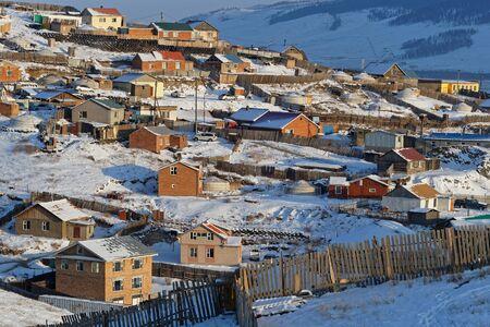 Suburbs of Ulaan Baatar on the hills surrounding the city