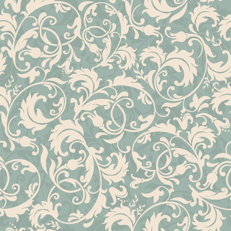 Decorative seamless victorian wallpaper.