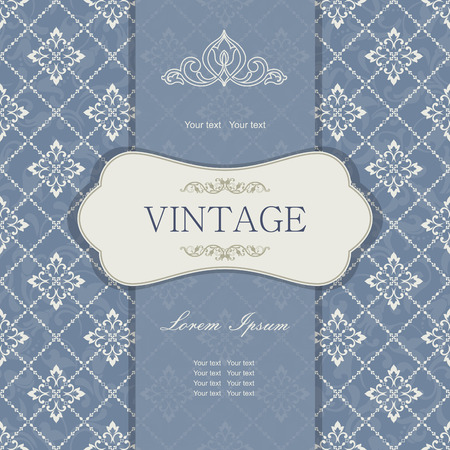 royal wedding: Vintage invitation card with Victorian ornaments Illustration