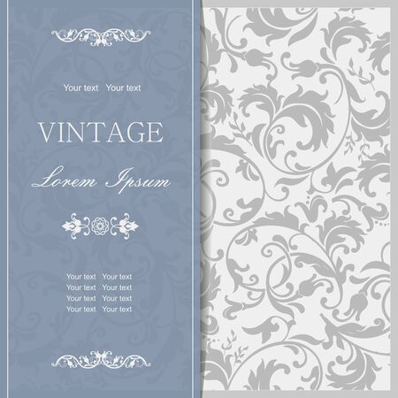 baroque border: Invitation cards in an vintage-style