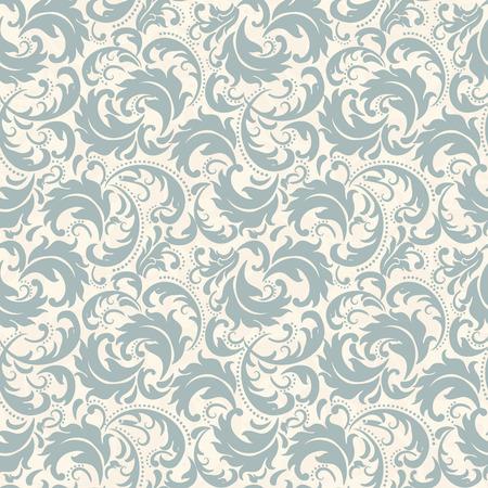 Un fond sans couture dans le style de Damas. Ornement vintage. Utilisation pour papier peint, impression sur papier d'emballage, textiles, carreaux de céramique.