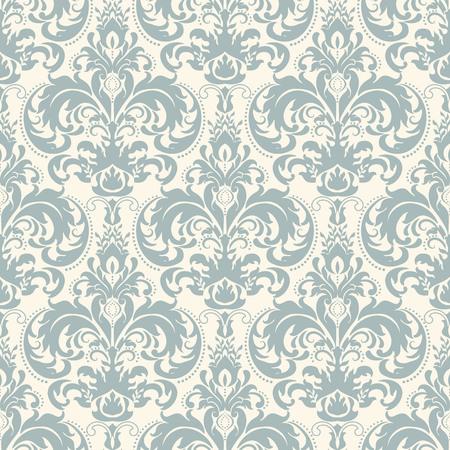 Fondo transparente en el estilo de Damasco. Adorno del vintage. Uso para el papel pintado, impresión en el papel de empaquetado, textiles, azulejo de cerámica.
