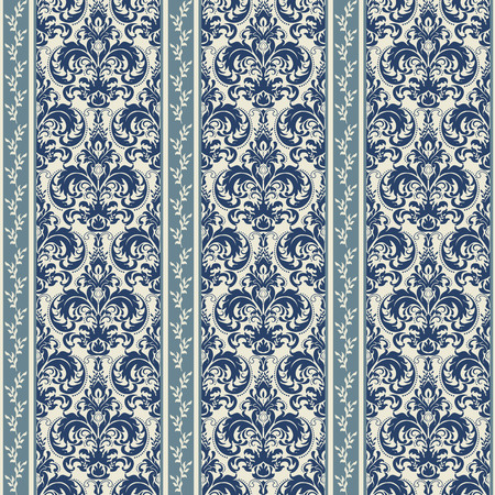 Ornate floral decorations for wallpaper. Endless texture