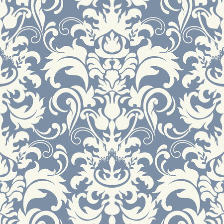 Vector seamless pattern with art ornament. Vintage elements for design in Victorian style. Ornamental baroque background. Ornate floral decorations for wallpaper. Endless texture