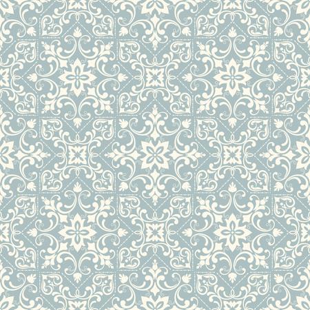 Fondo transparente en el estilo de Damasco. Adorno del vintage. Uso para el papel pintado, impresión en el papel de empaquetado, textiles, azulejo de cerámica. Ilustración de vector