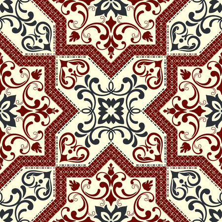 old fashioned: Seamless background in the style of Damascus. Vintage ornament. Use for wallpaper, printing on the packaging paper, textiles, ceramic tile.