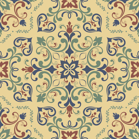 twigs: Damask seamless texture. Fine traditional background with oriental elements