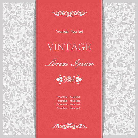 Vector ornate seamless border in Victorian style. Gorgeous element for design. Ornamental vintage pattern for wedding invitations, birthday and greeting cards. Traditional outline decor.