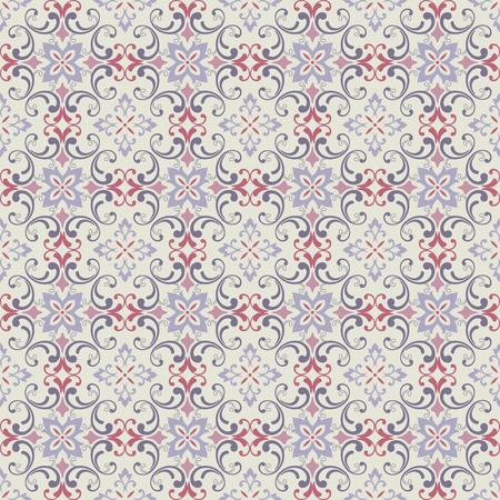 damask wallpaper. design elements. flower backdrop Illustration