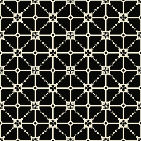 Abstract black pattern geometric of Islamic. Arabesque ornament. Seamless Vector illustration. Ilustrace