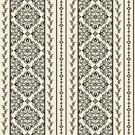 Seamless Victorian pattern. Floral Tile in turkish style. Hand drawn floral background. Vintage Wallpaper in damask style. Islam, Arabic, Indian, Ottoman motif. Vector illustration
