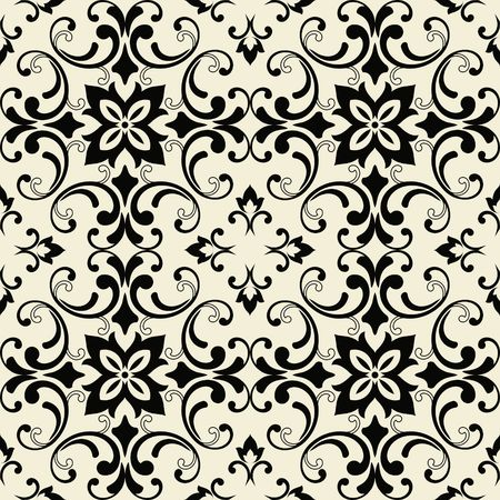 Seamless tiled pattern Royal luxury classical damask design