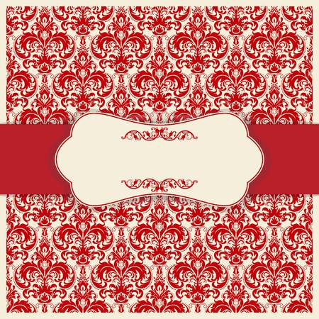 Red invitation vector illustration.