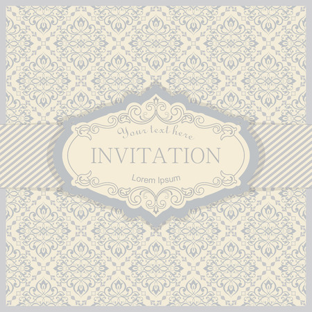 Vector invitation card with elegant flowers