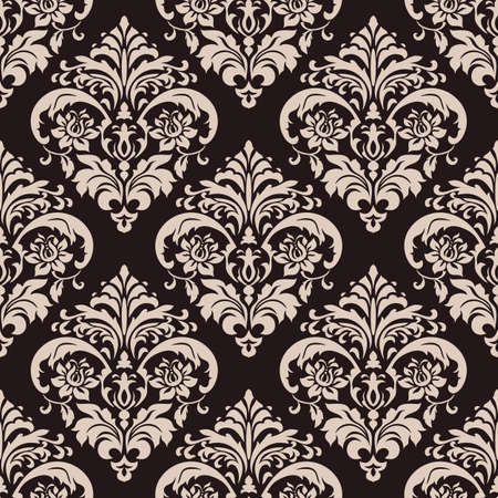 Wallpaper in the style of Baroque. Seamless vector background. Florals ornament. Graphic pattern for fabric, wallpaper, packaging. Ornate Damask flower ornament.