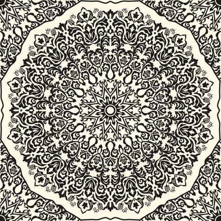 Flower Mandalas. Vintage decorative elements. Oriental pattern illustration. Islam, Arabic, Indian, turkish, pakistan, chinese, ottoman motifs.