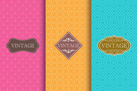 Set of Cute bright seamless patterns with frames. Seamless patchwork in turkish style on vibrant background. Islam, Arabic, Indian, ottoman motifs. Vector hand drawn illustration.