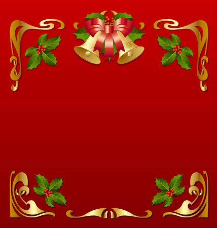 secession: Christmas vintage frame in secession style Illustration