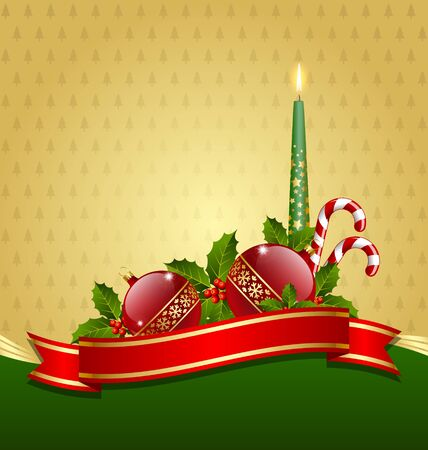 Stylized Christmas decoration Vector