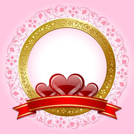 Valentines day plaque Vector