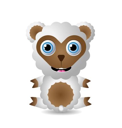 suckling: Personaggio simpatico animale isolato su sfondo bianco Vettoriali