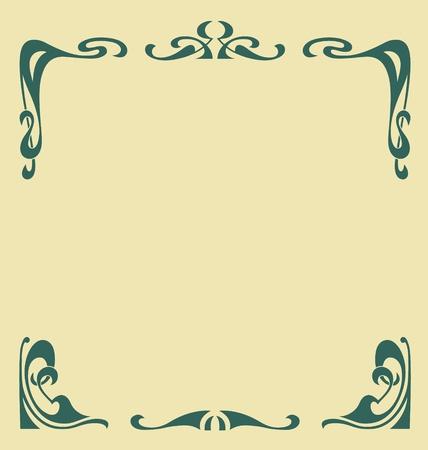 carve: Marco ornamental de �poca en el estilo de la secesi�n Vectores