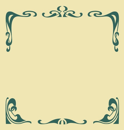 Ornamental vintage frame in secession style Vector