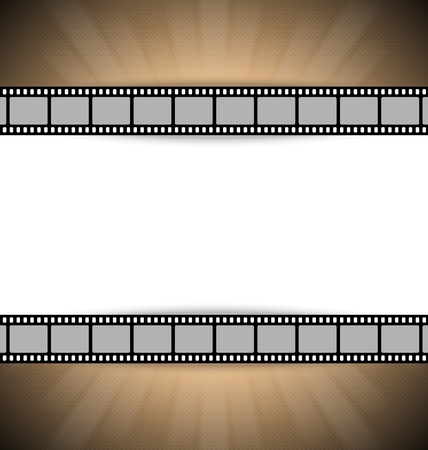 brownish: Film strip document template with place for your custom message Illustration