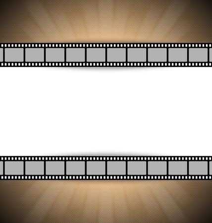 Film strip document template with place for your custom message Ilustração