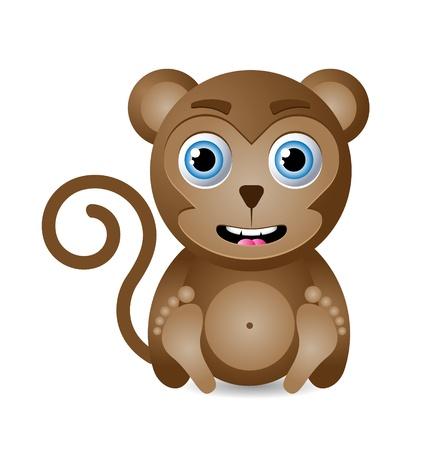 sumatran: Cute animal character isolated on white background Illustration