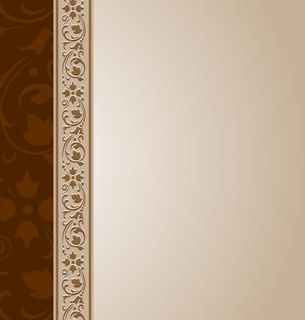 corner frame: Ornamental document template in vintage style Illustration