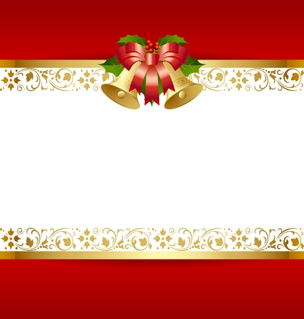 Stylized Christmas card template with decoration Stock Vector - 11294449