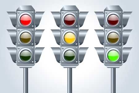 Semaphore traffic lights Vector