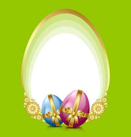Decoración de los huevos de Pascua Ilustración de vector