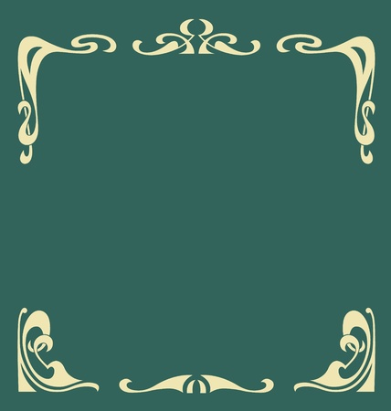 art nouveau frame: Ornamental vintage frame in secession style