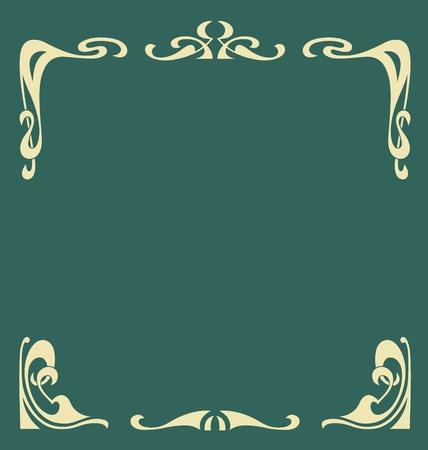jugendstil: Ornamental vintage frame in secession style