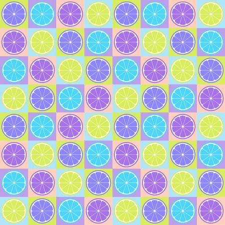 limon: Colorful seamless retro pattern with citrus theme Illustration