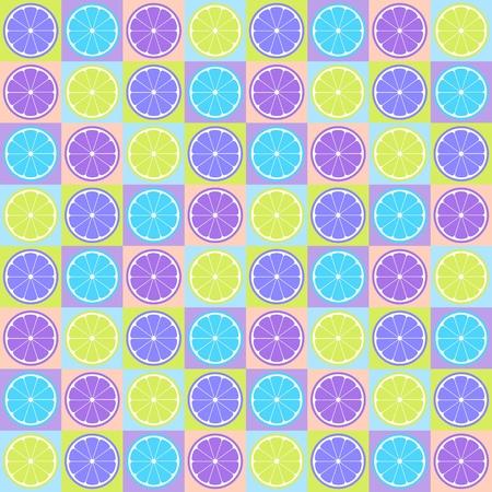 limon: Colorful seamless retro pattern with citrus theme Illustration