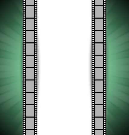 Film strip document template with place for your custom message Vector