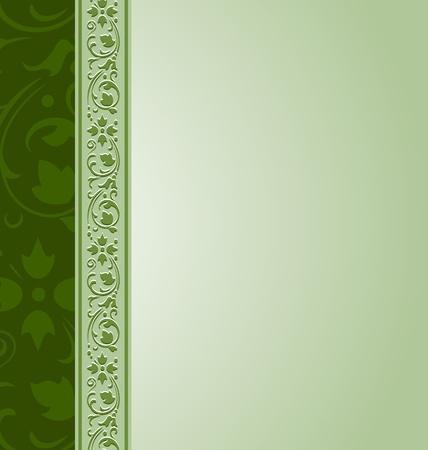 Ornamental documentsjabloon in vintage stijl